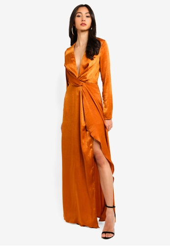 9eaa67794389d Buy MISSGUIDED Wrap Front Maxi Dress Online on ZALORA Singapore