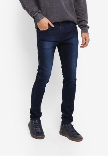 Penshoppe 藍色 窄管牛仔褲 C1326AA27B6DC9GS_1