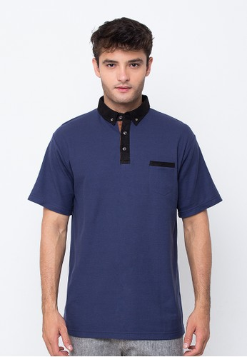 R U S S Pesci Navy Polo Shirt