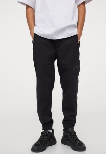 H&M black Regular Fit Joggers BB8D1AAAEB0AB3GS_1