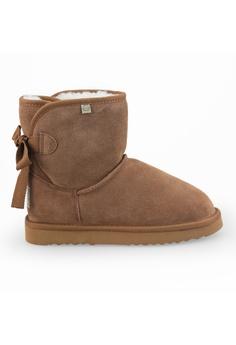 8e65037ee Shu Talk brown TIURAI Suede Leather Sheepskin Ugg Boots 61CC2SHB75DEF1GS_1