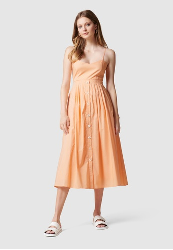 Forever New orange Jada Cut Away Midi Dress 7AA1AAA3A104A5GS_1