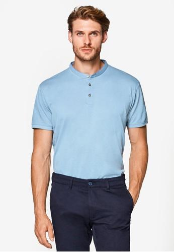ESPRIT 藍色 短袖POLO衫 E9B79AA49C70C9GS_1