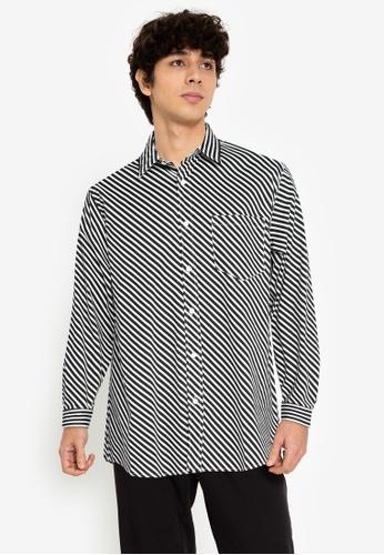 ZALORA BASICS multi Parallel Striped Shirt EA6DBAA4EB24E1GS_1