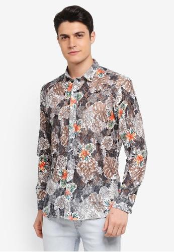 Topman black Floral Lace Shirt 6E1B8AAF2797E2GS_1