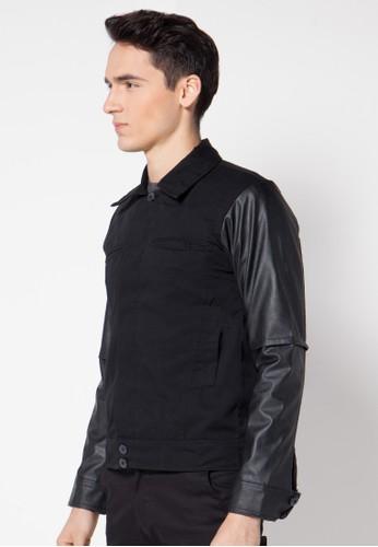Crows Denim black Crows Denim - Jaket Kombinasi Kulit Trend Fashion  CR199AA77NBEID 1 0e7f7aec7f