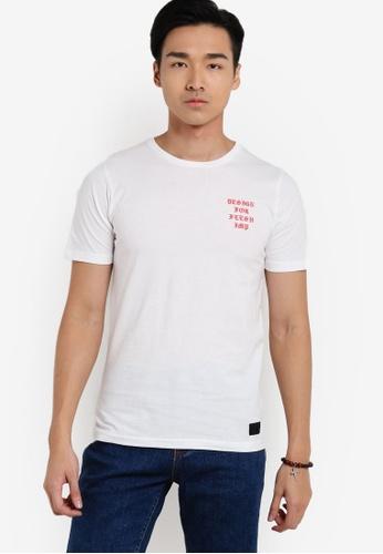 Flesh IMP 白色 Medieval Design T-shirt FL064AA17VVUMY_1