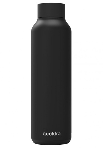 QUOKKA QUOKKA STAINLESS STEEL BOTTLE SOLID JET BLACK 630 ML CB380AC74EE60FGS_1