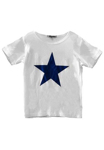Roses & Rhinos white Star T-shirt-Unisex 23AD7KAE1CD129GS_1
