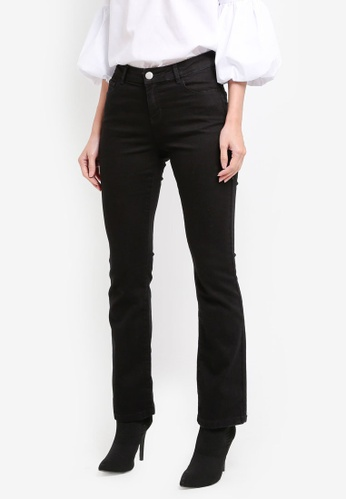 Dorothy Perkins black Short Black Bootcut Jeans DO816AA0T04VMY_1