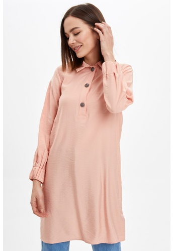 DeFacto pink Long Sleeve Tunic 84C97AA4494147GS_1