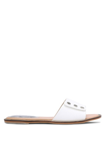 Nose white Studded Slip-On Sandals NO327SH0RC7NMY_1