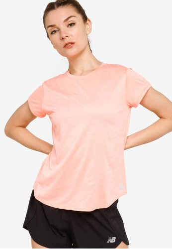 New Balance pink Sport Core Heather Tee 211D4AA1379F16GS_1