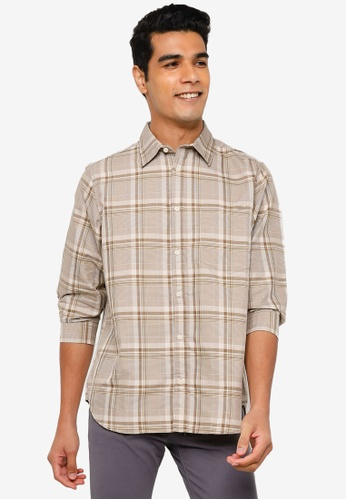 RAGEBLUE brown Half Sleeve Shirt B7027AA6481726GS_1