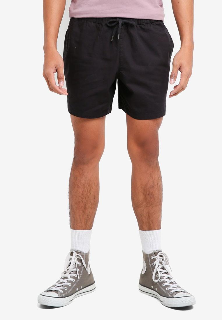 Shorts Ripstop Topman Black Black Ripstop Black t8EHwqn0