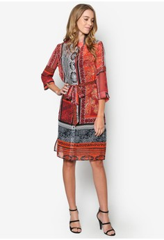 Paisley Printed Shirt Dress