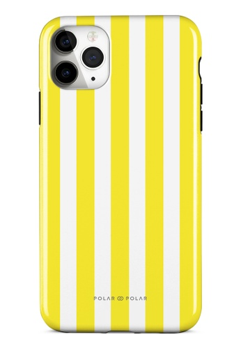 Polar Polar yellow Yellow Stripe Dual-Layer Tough Case Glossy For iPhone 11 Pro Max 500F3AC9480C83GS_1