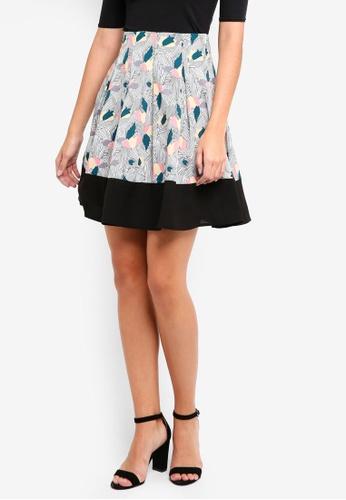 ZALORA multi Pleated Colourblock Skirt 40B73AA0AFB8AEGS_1