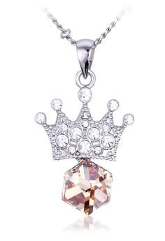 Swarovski Crystal Queen Crown Necklace by ZUMQA