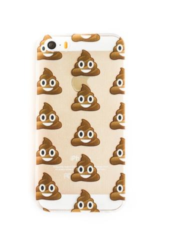 Fancy Cellphone Cases multi Poop Emoticon Soft Transparent Case for iPhone 5/5s/SE  FA644AC46KKRPH_1