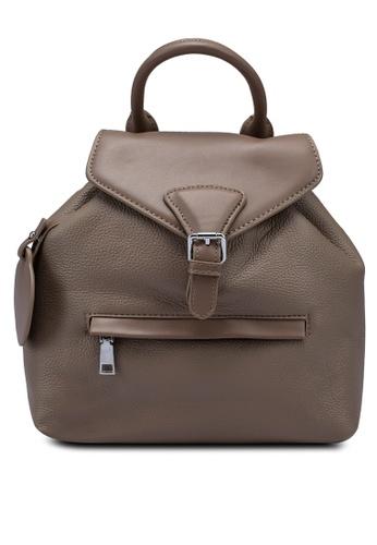Milliot & Co. beige Adelaide Backpacks FB7A6ACAF6E066GS_1