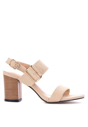 609d9d941 Shop Rock Rose Buckled Block Heel Sandals Online on ZALORA Philippines