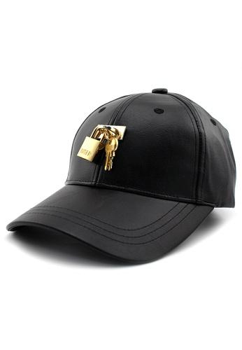 HATER black Padlock Cap (Black) E264FAC191AA05GS_1