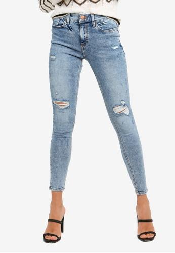 River Island blue Amelie Ripped Skinny Jeans FE291AA248819CGS_1