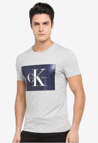 Calvin Klein grey Tikimo 2 Slim Crew Neck Short Sleeve T-Shirt - Calvin Klein Jeans 2F152AA599DDBFGS_1