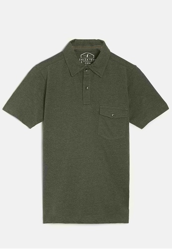ZALZA green Mike 100% Organic Cotton Boys Polo Tee - Olive FB254KA5A5794CGS_1