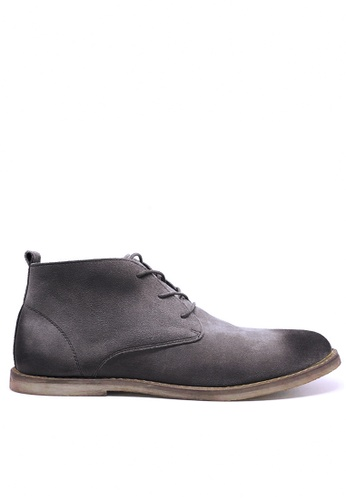 Twenty Eight Shoes 灰色 復古擦色猄皮短靴 MC620 6E296SHC2ABE66GS_1