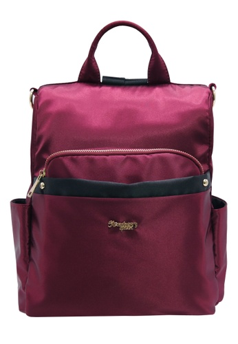 STRAWBERRY QUEEN red 3-Way Anti-Theft Backpack - ANTI-THEFT BOB (Maroon) DAA19AC94F7B75GS_1