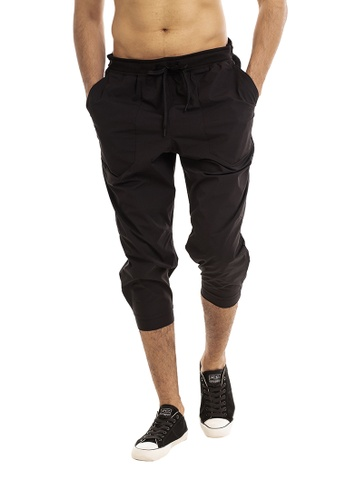 RYZ black RYZ Slim Fit Black Woven Capri Joggers 2.0. 4C2C6AAC644A18GS_1