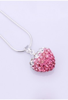 Anastasia 925 Silver Plated Heart Necklace