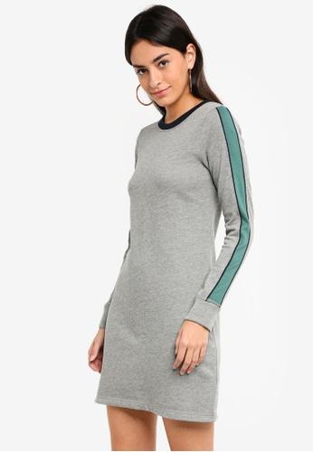 Abercrombie & Fitch grey Side Stripe Fleece Dress 49BCBAA52625EBGS_1