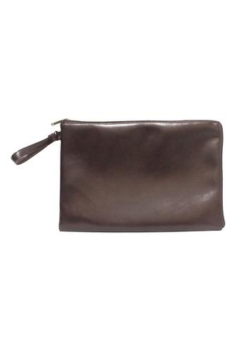 "Knocks brown 14/15"" Abner Laptop Case (Dark Chocolate) KN307AC94OHPSG_1"