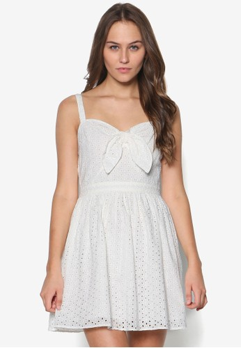 Pesprit 折扣etite 蝴蝶結雙肩帶洋裝, 服飾, 洋裝
