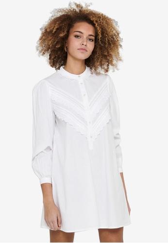 JACQUELINE DE YONG white Mumbai Life Long Sleeve Dress 1A0DAAA70EF799GS_1