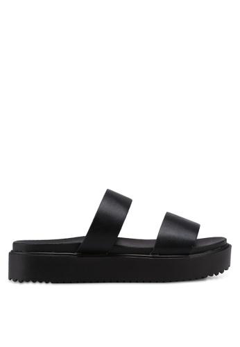 Bata 黑色 雙繞帶厚底涼鞋 0A94DSH766C032GS_1