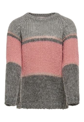 ONLY grey Terrie Long Sleeves Sweater 4A480KAC1858F2GS_1