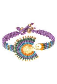 Macrame Brass Bracelet (Round)