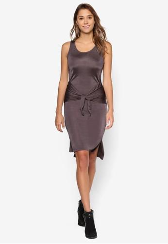 繫帶esprit暢貨中心飾側開叉背心連身裙, 服飾, 服飾