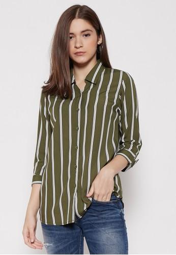 ako jeans green AKO JEANS Green Stripe 14-4487 66BA7AAC6F9C24GS_1