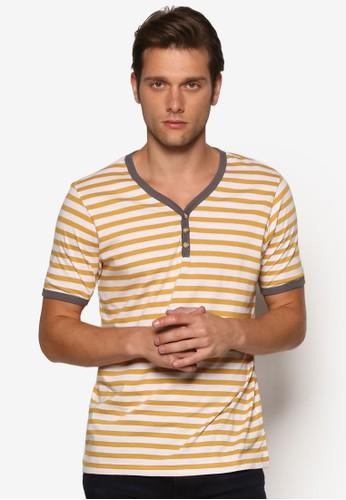 條紋亨利短袖上衣, 服飾, 條esprit 京站紋T恤