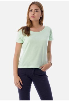Women's Mint U-Neck