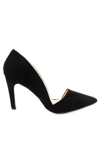 Twenty Eight Shoes black Asymmetrical arch Heel Pumps VS172 D0B92SH4D287B9GS_1