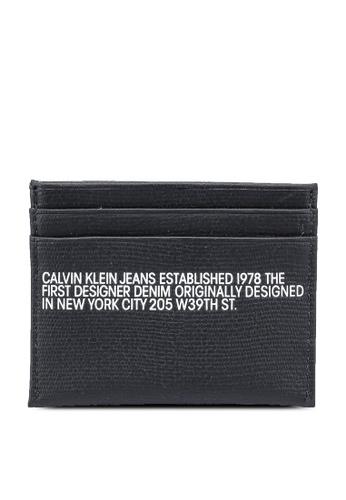 Calvin Klein black Card Case - Calvin Klein Jeans Accessories BE497ACE186B29GS_1