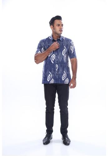 Amar Amran blue Kemeja Batik Malaysia D8A74AACFD3FA3GS_1
