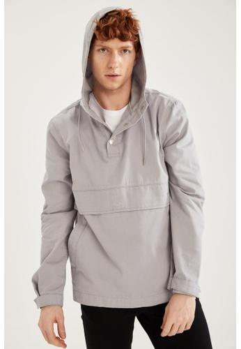 DeFacto grey Hooded Light Denim Jacket 2E921AA203F5B8GS_1