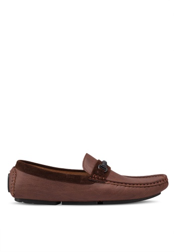 High Cultured brown Metal Hardware Loafers 320 2CFEFSHF889F6DGS_1